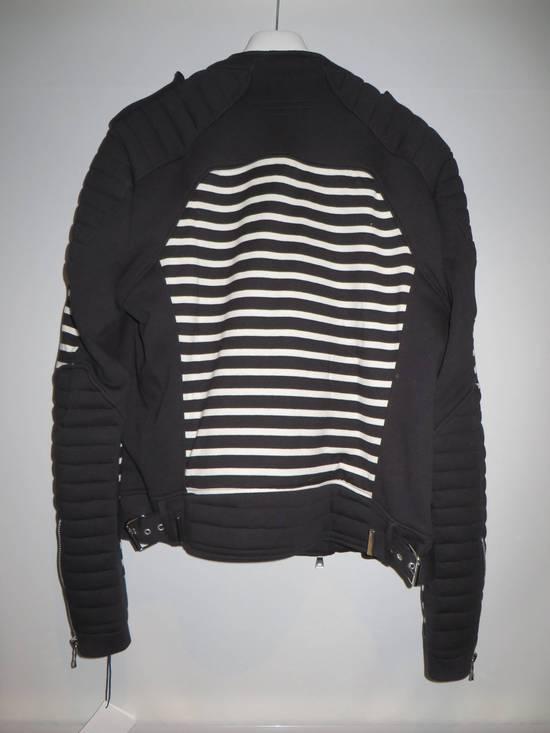 Balmain Stripped cotton biker jacket Size US XXL / EU 58 / 5 - 3