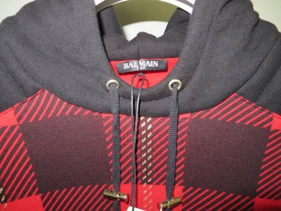 Balmain Tartan hooded sweatshirt Size US XL / EU 56 / 4 - 3