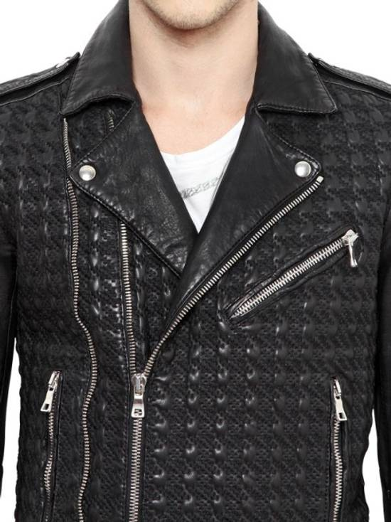 Balmain Balmain Paris Handwoven Short-sleeve Leather Jacket Size US S / EU 44-46 / 1