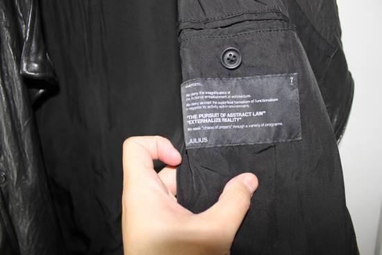 Julius 11aw halo asymmetrical leather jacket Size US M / EU 48-50 / 2 - 6