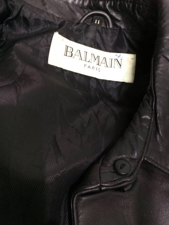 Balmain BALMAIN Paris Black Leather Biker Rockers Rockabilly Cafe Racer Jacket Size US M / EU 48-50 / 2 - 3