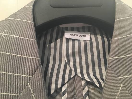 Thom Browne Sport Blazer in Grey/White Anchor Pinstripe Wool Jacquard Size US S / EU 44-46 / 1 - 1