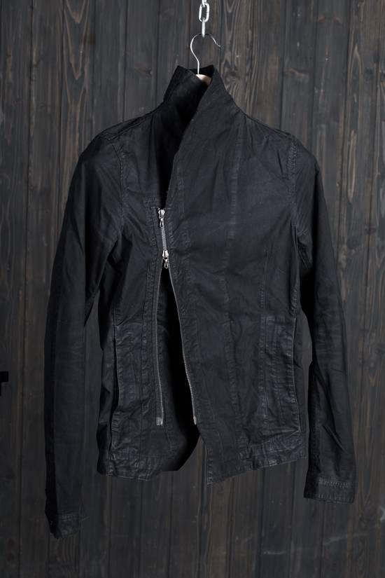 Julius high neck asymmetric zip waxed denim jacket Size US S / EU 44-46 / 1