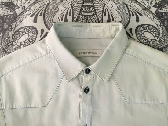 Balmain Bleached out Button Down Denim Shirt Size US S / EU 44-46 / 1 - 1