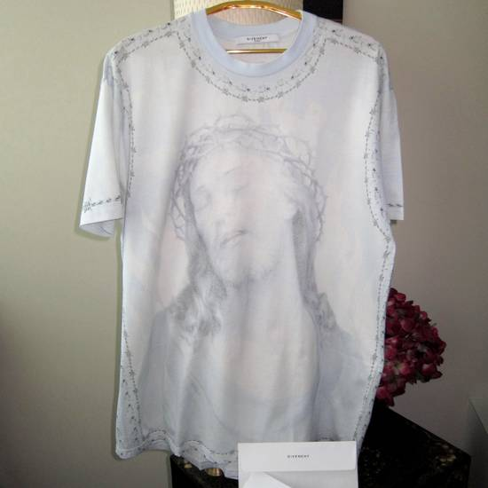Givenchy GIVENCHY Jesus Cotton Jersey T-Shirt Columbian Fit 100% AUTHENTIC with Receipt! Size US S / EU 44-46 / 1