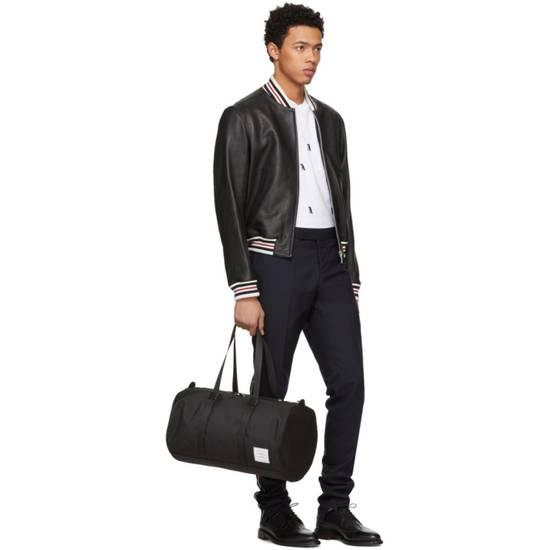 Thom Browne Black Leather Varsity Jacket (NEW W TAG) Size US XS / EU 42 / 0 - 9