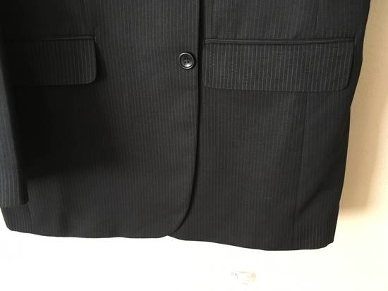 Givenchy GIVENCHY Wool Twill Three Button Navy Pinstripe Suit Jacket Drop 6 Size 42R - 5
