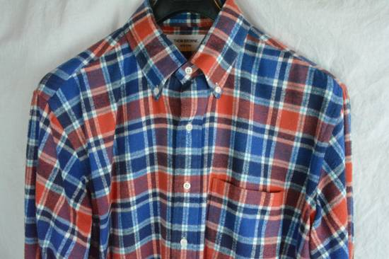 Thom Browne Red White Blue Plaid Flannel Thick Cotton Casual Shirt 3 4 5 X-Large Size US XL / EU 56 / 4 - 1