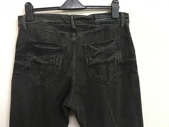 Julius Japanese Designer JULIUS7 Made in Japan Distressed Curved in Legs Denim Pant Size US 33 - 9