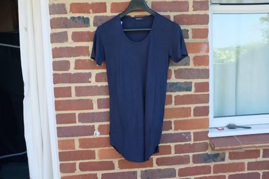 Balmain Blue Ribbed Knit T-shirt Size US M / EU 48-50 / 2