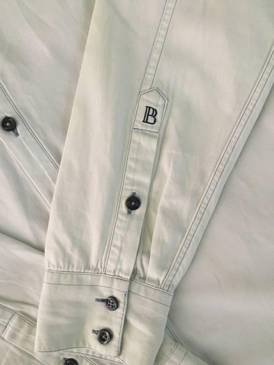Balmain Bleached out Button Down Denim Shirt Size US S / EU 44-46 / 1 - 2