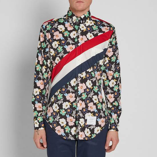 Thom Browne SS17 floral diagonal stripe shirt, BNWT Size US M / EU 48-50 / 2 - 1