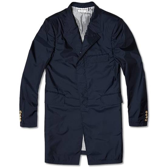 Thom Browne NEW Thom Browne Navy Chesterfield Spring Coat Size US M / EU 48-50 / 2