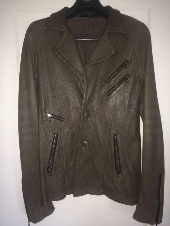 Julius Julius 7 Men Leather Jacket Size US M / EU 48-50 / 2 - 2