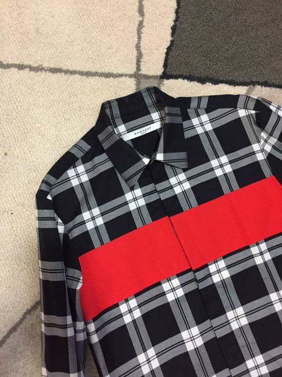 Givenchy Red block button up shirt Size US M / EU 48-50 / 2 - 1