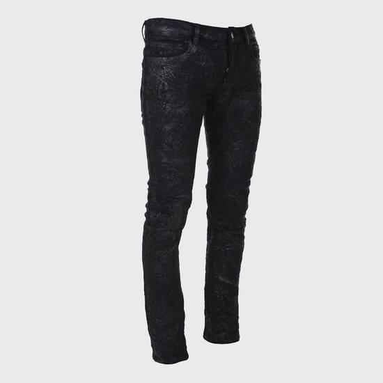 Balmain Balmain Midnight Blue Waxed Embroidered Jeans Size US 27 - 2
