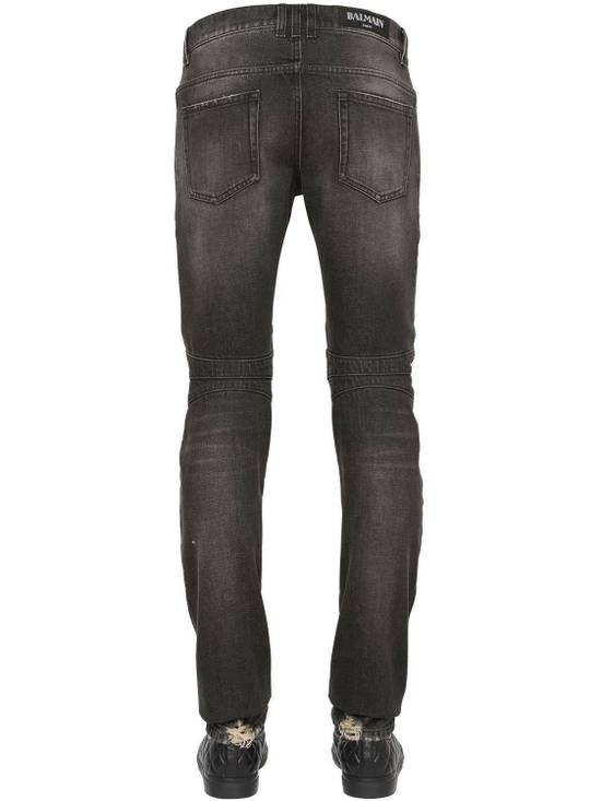 Balmain Balmain Washed Cotton Denim Black Biker $990 Authentic Jeans Size 31 New Size US 31 - 2