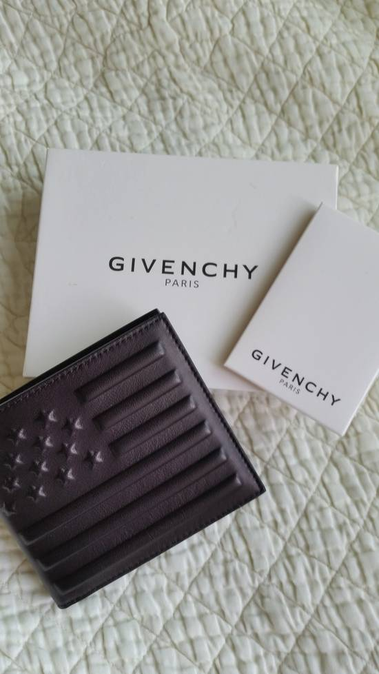 Givenchy NEW America Stars and Stripe Lamb Leather Wallet Size ONE SIZE