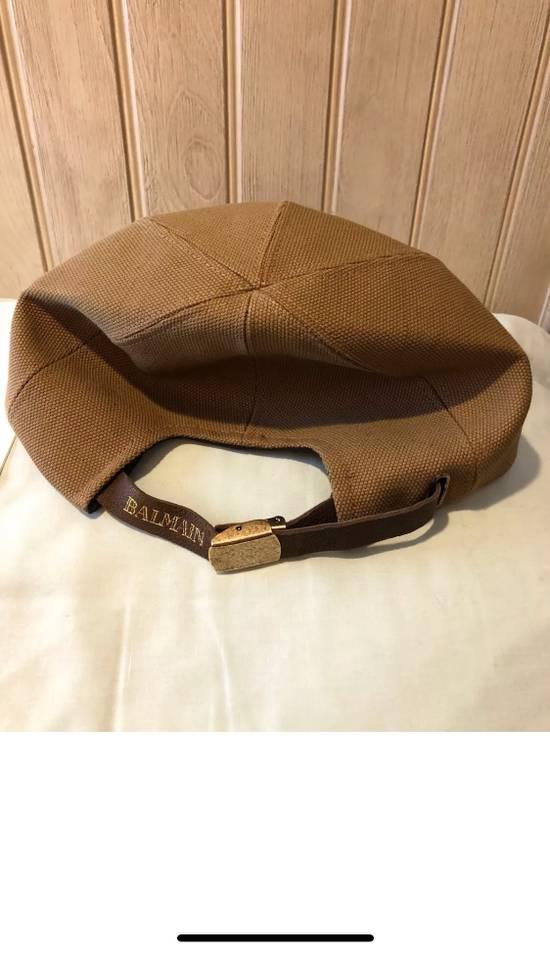 Balmain Balmain Paris Hat Marron Brown 100% Authentic Size Medium Size ONE SIZE - 5