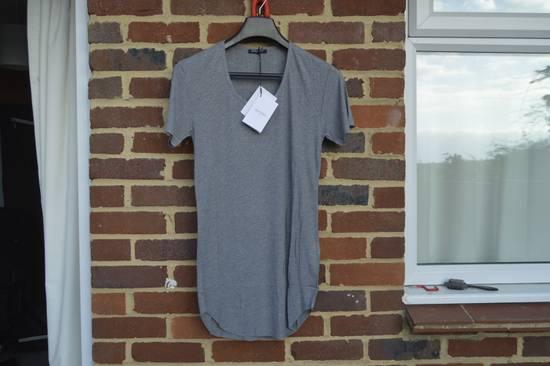 Balmain Grey Ribbed Knit T-shirt Size US M / EU 48-50 / 2