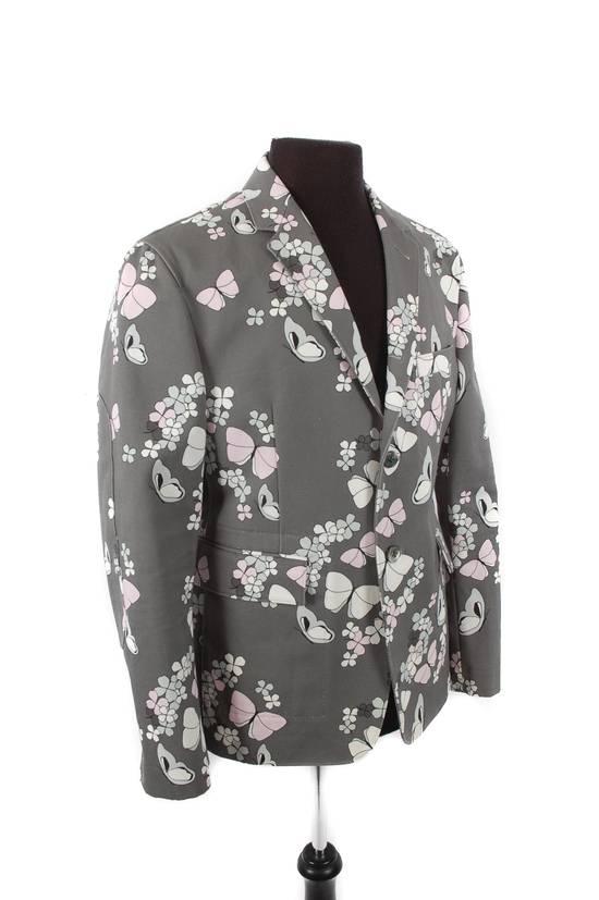 Thom Browne Thom Browne Grey Butterfly Print Blazer Size 40R - 1