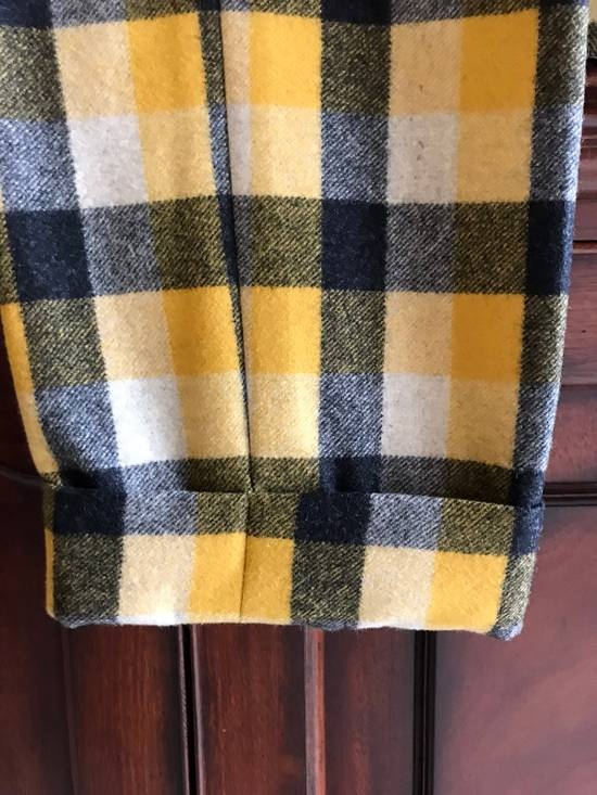 Thom Browne Black Fleece Yellow Plaid Trousers In Thick Wool Size US 30 / EU 46 - 1