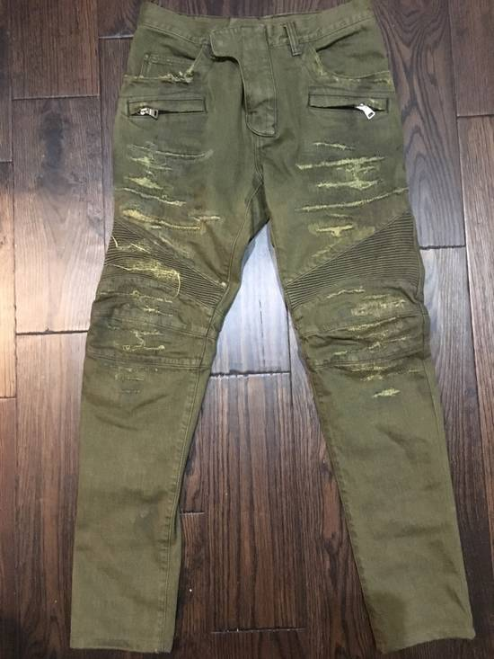 Balmain Distress army biker Size US 32 / EU 48