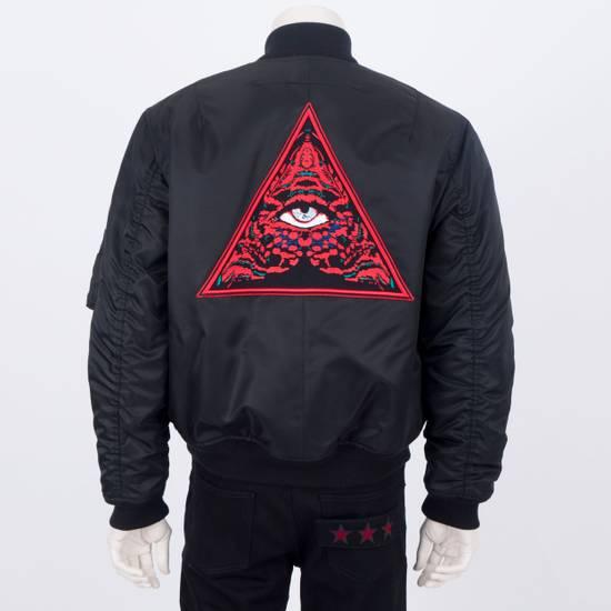 Givenchy 2550$ New Black Padded Nylon Illuminati Patch Bomber Jacket Size US L / EU 52-54 / 3
