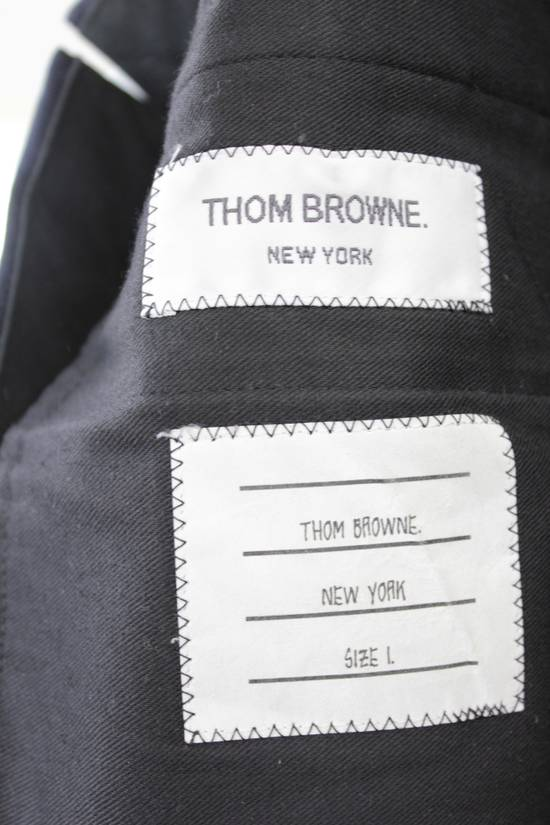 Thom Browne Classic High Waisted Navy Wool Pinstriped Pant Size 36R - 3