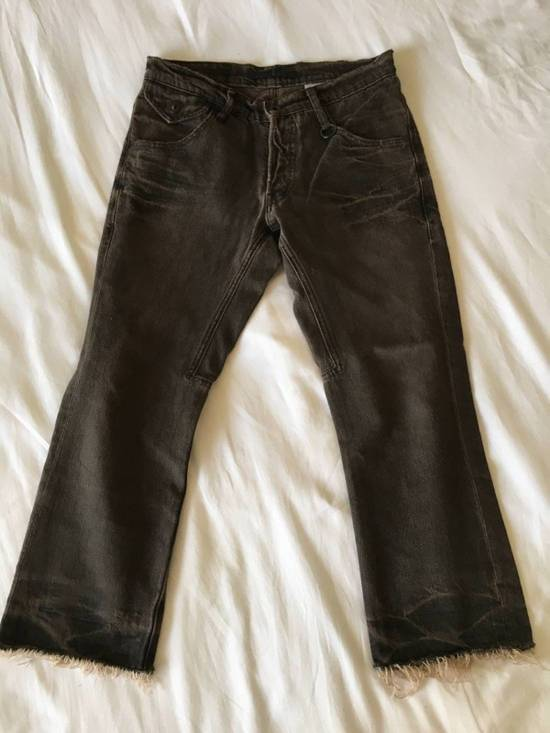 Julius Japan made cropped wrinkle and dirt effect distressed frayed hem Jeans Size US 28 / EU 44 - 3