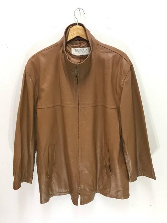 Balmain Balmain Paris Vintage Sheep Leather Jacket Brown Size US L / EU 52-54 / 3 - 3