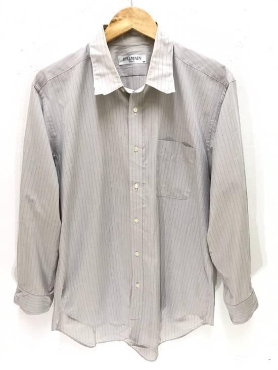 Balmain Balmain Paris Made in Japan Striped Shirt Button Up Size US M / EU 48-50 / 2