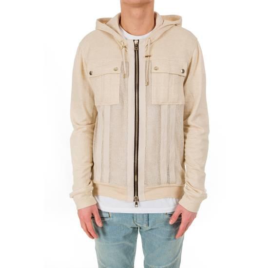 Balmain Zipped Up Cotton/Linen Hoodie Size US XL / EU 56 / 4