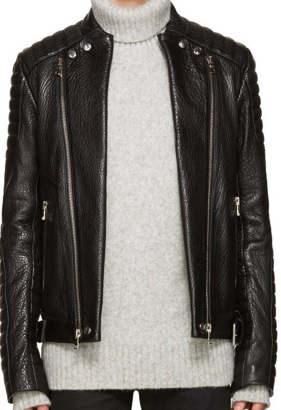 Balmain Balmain Black Leather Collared Biker Jacket Size US M / EU 48-50 / 2 - 1