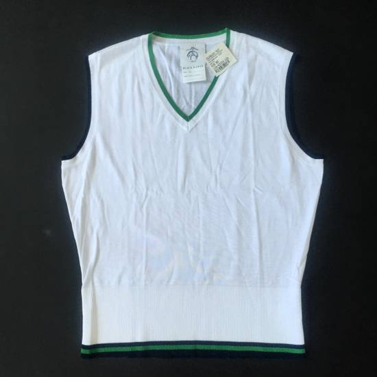 Thom Browne White Contrast Tipped Sweater Vest NWT Size US XL / EU 56 / 4