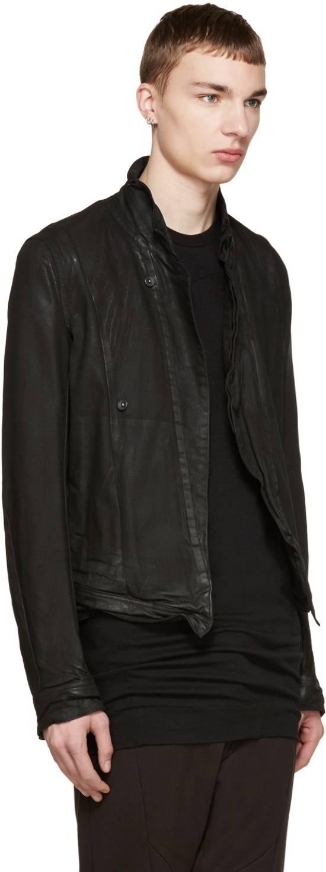 Julius Julius Black Waxed Denim Jacket Size US L / EU 52-54 / 3 - 1
