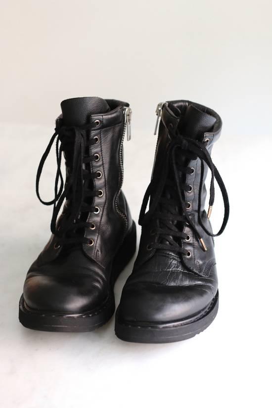 Rick Owens Slimfit Lace Up Combats Size 8 Boots For Sale