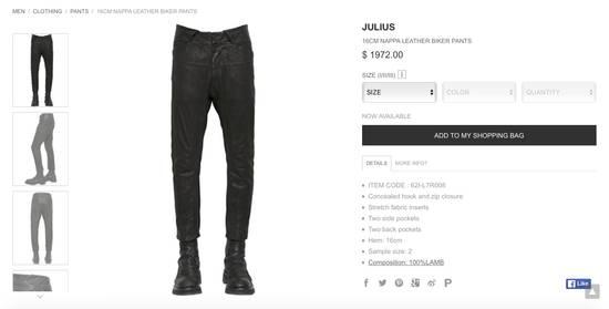 Julius BNWT Leather Paneled Biker Pants Size US 30 / EU 46 - 9