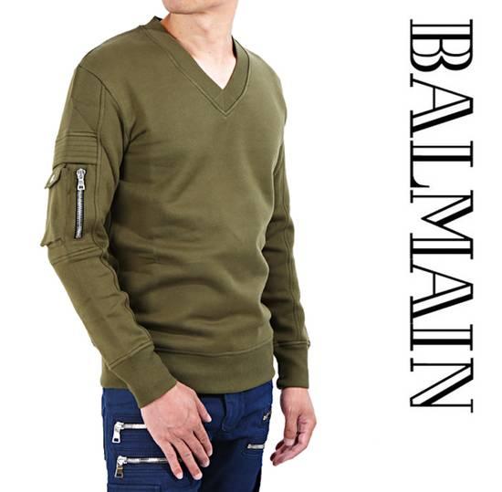 Balmain Balmain Khaki Sweatshirt Size US M / EU 48-50 / 2 - 8