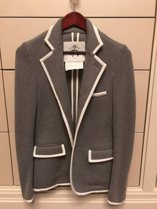 Thom Browne Black Fleece Cotton Blazer Size 34S