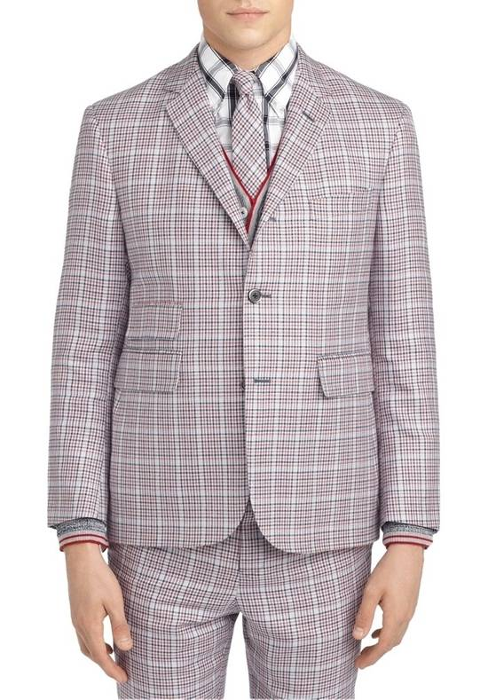 Thom Browne Black Fleece Plaid Blazer, NWT Size 42R - 12