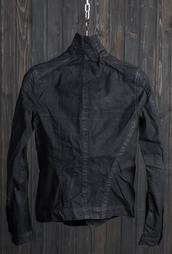 Julius high neck asymmetric zip waxed denim jacket Size US S / EU 44-46 / 1 - 4