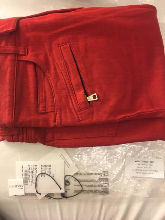 Balmain Jeans balmain biker Red Size US 30 / EU 46 - 3