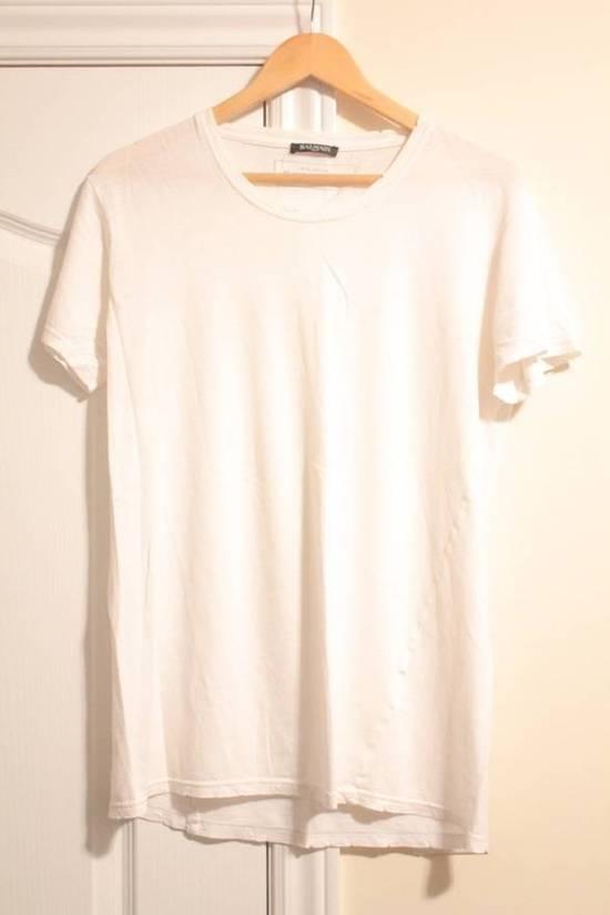 Balmain Rare 2013 Distressed Twisted Seam White T Shirt Size US S / EU 44-46 / 1 - 1
