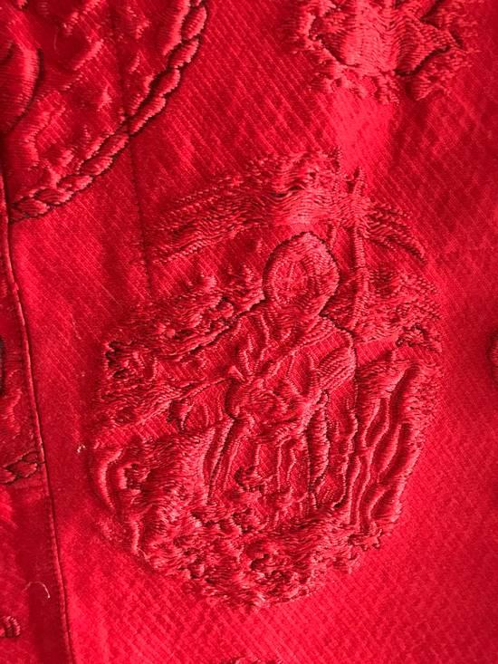 Thom Browne Thom Browne SS13 Tattoo Jacquard Red Silk Shorts (size 1) Size US 30 / EU 46 - 1