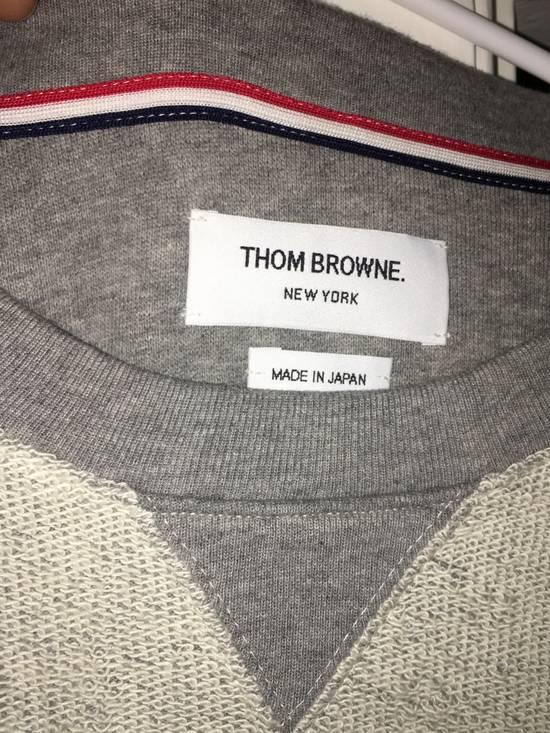 Thom Browne Grey Contrast Sweatshirt Size US L / EU 52-54 / 3 - 2