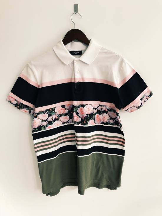 Givenchy Floral Print Polo Shirt Size US S / EU 44-46 / 1