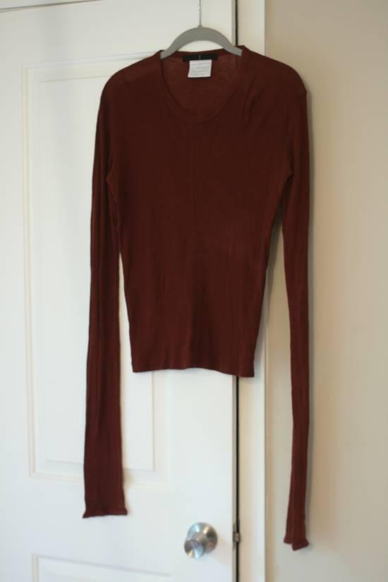 Julius FW08 Blood Red Cotton/Cashmere Rib L/S Size US S / EU 44-46 / 1 - 1