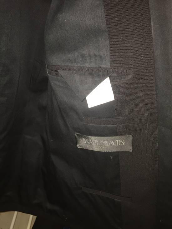 Balmain Black Tuxedo Blazer Size 50S - 3