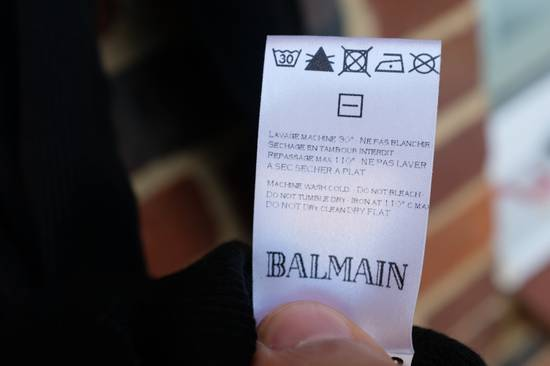 Balmain Black Ribbed Knit Roll Neck T-shirt Size US M / EU 48-50 / 2 - 8